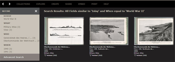 Screenshot of Islay related information by the German Wehrmacht during WWII