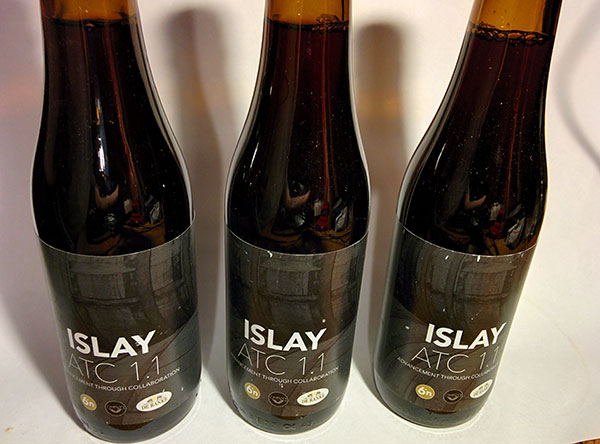 Picture of 3 bottles of beer called Islay ATC 1.1