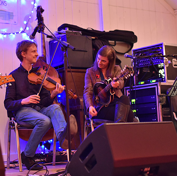 Picture of Adam Sutherland and Laura-Beth Salter performing on stage