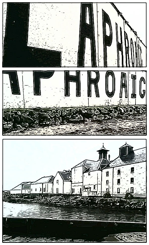 Laphroaig Islay distillery storyboard 1