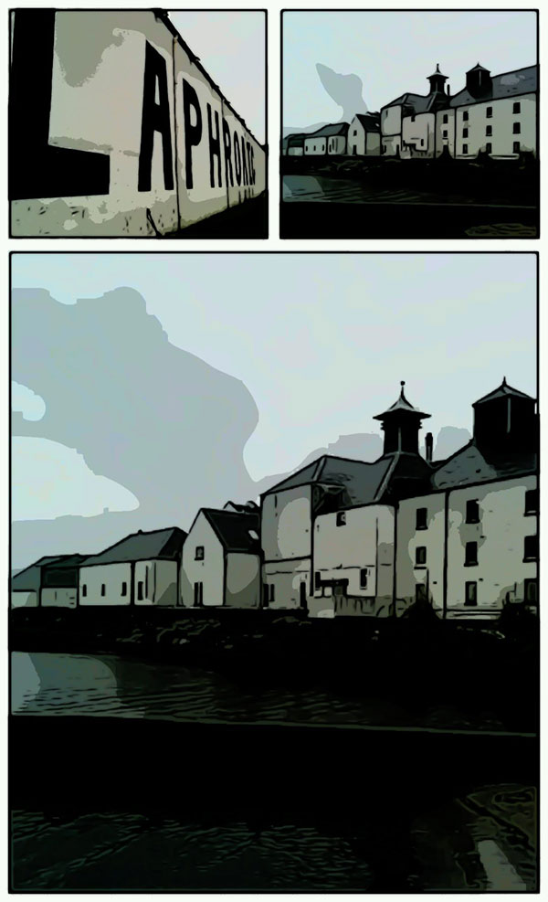 Laphroaig Islay distillery storyboard 2