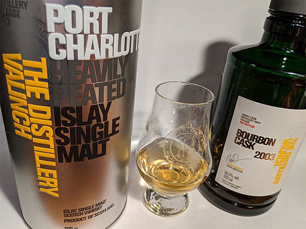 Picture of a Bruichladdich Port Charlotte Bourbon Cask 2003 Valinch Islay single malt whisky